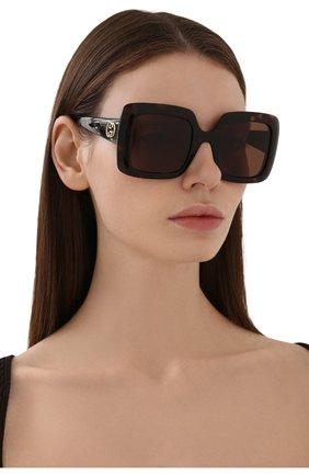 Женские солнцезащитные очки GUCCI коричневого цвета, арт. GG0896S 002 | Фото 2