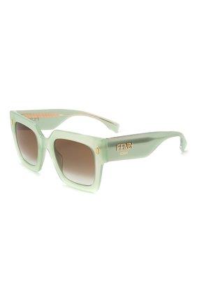 Женские солнцезащитные очки FENDI светло-зеленого цвета, арт. 0457/G 1ED | Фото 1