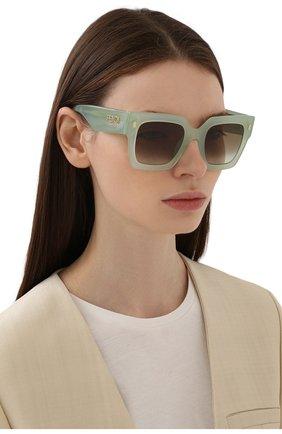 Женские солнцезащитные очки FENDI светло-зеленого цвета, арт. 0457/G 1ED | Фото 2