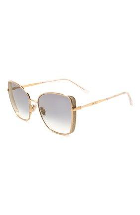 Женские солнцезащитные очки JIMMY CHOO золотого цвета, арт. ALEXIS 000 | Фото 1