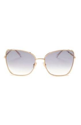 Женские солнцезащитные очки JIMMY CHOO золотого цвета, арт. ALEXIS 000 | Фото 2