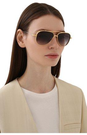 Женские солнцезащитные очки DITA золотого цвета, арт. SUBSYSTEM/01 | Фото 2