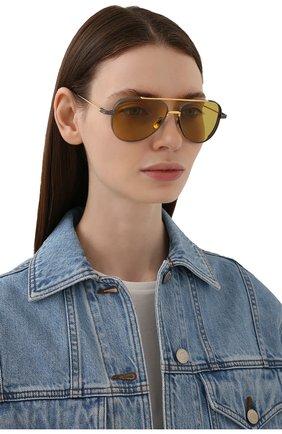 Женские солнцезащитные очки DITA желтого цвета, арт. SUBSYSTEM/02 | Фото 2