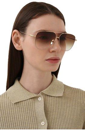 Женские солнцезащитные очки DITA коричневого цвета, арт. M0DDICT/02 | Фото 2