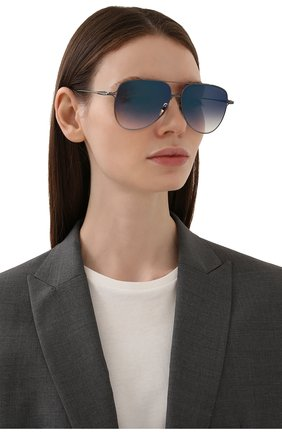 Женские солнцезащитные очки DITA синего цвета, арт. M0DDICT/03 | Фото 2