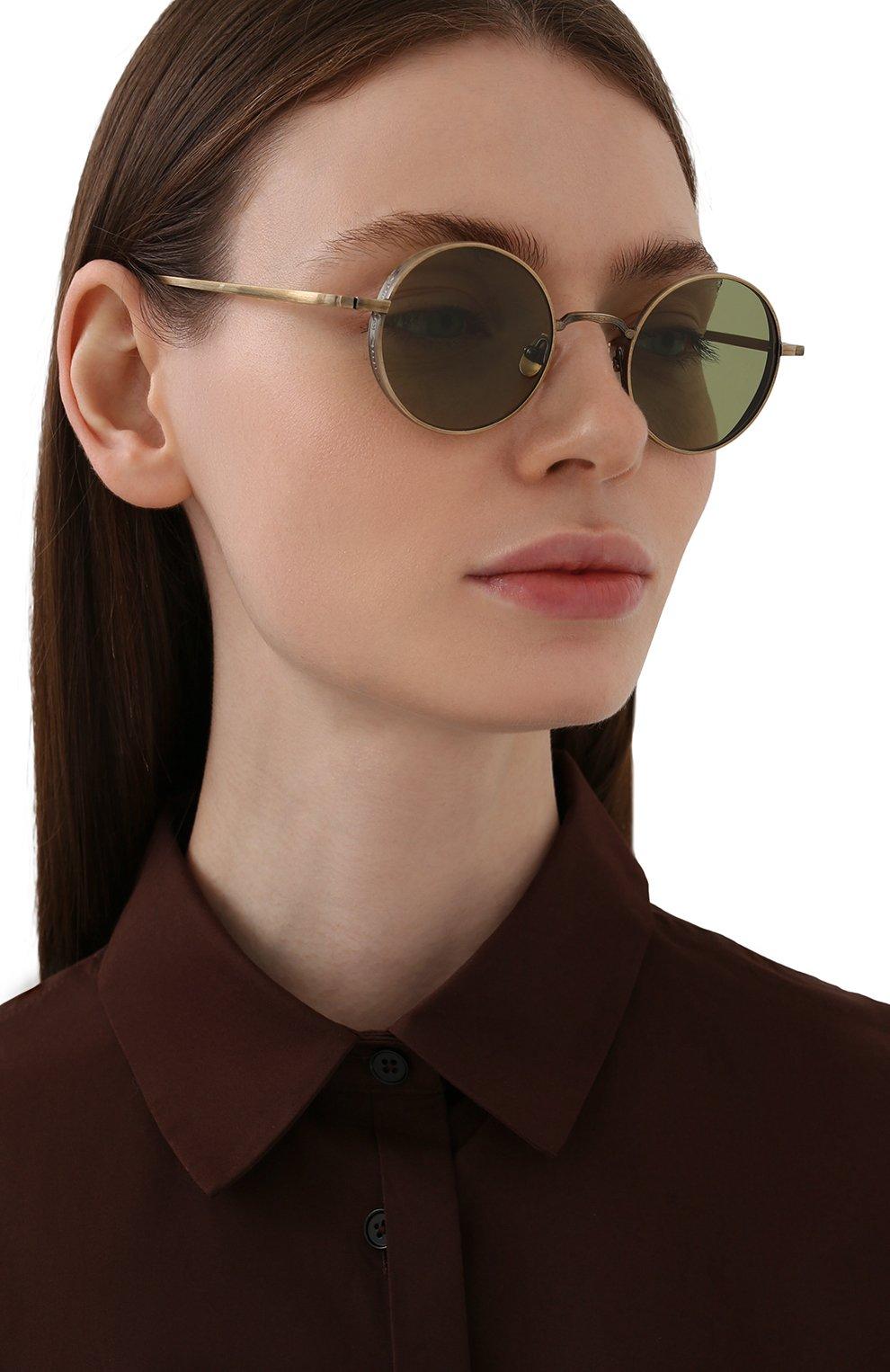 Женские солнцезащитные очки MATSUDA золотого цвета, арт. M3087 AG   Фото 2 (Тип очков: С/з; Очки форма: Круглые; Оптика Гендер: оптика-унисекс)