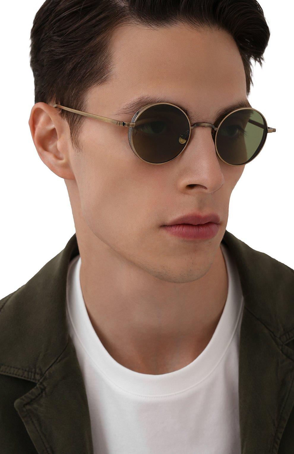 Женские солнцезащитные очки MATSUDA золотого цвета, арт. M3087 AG   Фото 3 (Тип очков: С/з; Очки форма: Круглые; Оптика Гендер: оптика-унисекс)