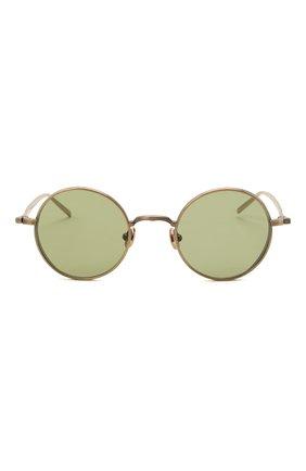 Женские солнцезащитные очки MATSUDA золотого цвета, арт. M3087 AG   Фото 4 (Тип очков: С/з; Очки форма: Круглые; Оптика Гендер: оптика-унисекс)