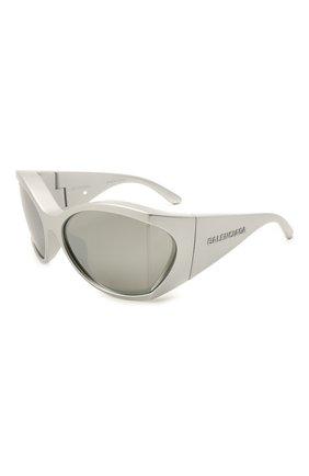 Женские солнцезащитные очки BALENCIAGA серебряного цвета, арт. BB0154S 003 | Фото 1