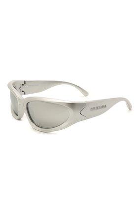 Женские солнцезащитные очки BALENCIAGA серебряного цвета, арт. BB0157S 004 | Фото 1