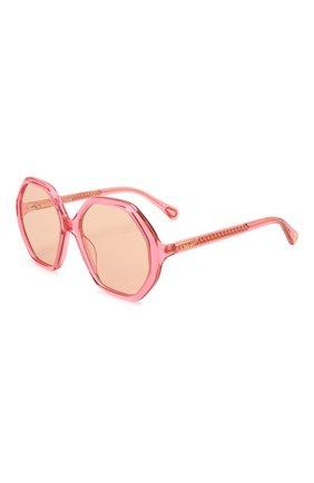 Детские солнцезащитные очки CHLOÉ розового цвета, арт. CC0004S 003 | Фото 1