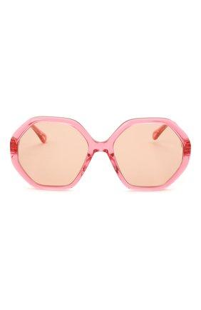 Детские солнцезащитные очки CHLOÉ розового цвета, арт. CC0004S 003 | Фото 2