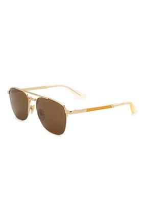 Женские солнцезащитные очки GUCCI золотого цвета, арт. GG0985S 002 | Фото 1