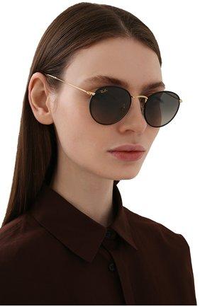 Женские солнцезащитные очки RAY-BAN черного цвета, арт. 3447JM-919671 | Фото 2