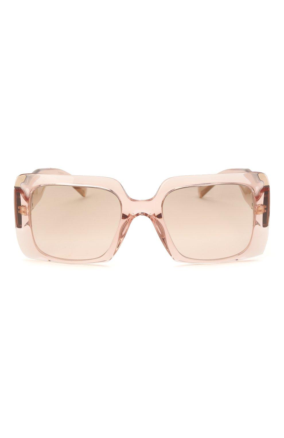 Женские солнцезащитные очки VERSACE светло-розового цвета, арт. 4405-53394E   Фото 3