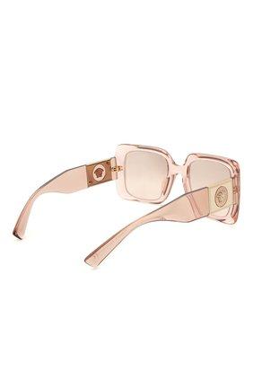 Женские солнцезащитные очки VERSACE светло-розового цвета, арт. 4405-53394E   Фото 4