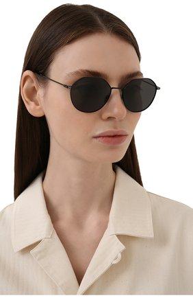 Женские солнцезащитные очки DOLCE & GABBANA черного цвета, арт. 2271-110687 | Фото 2