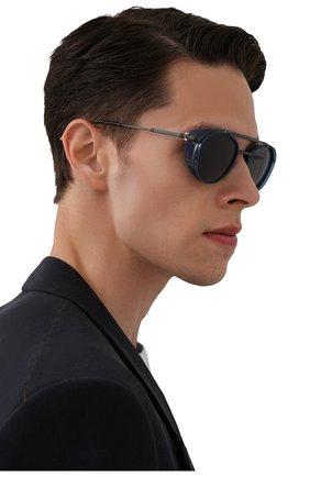 Мужские солнцезащитные очки AKONI синего цвета, арт. AKS-501C | Фото 2 (Тип очков: С/з; Очки форма: Круглые; Оптика Гендер: оптика-мужское)