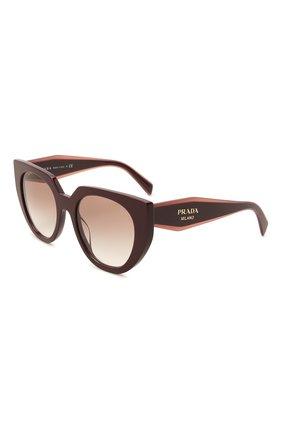 Женские солнцезащитные очки PRADA бордового цвета, арт. 14WS-VIY1L0   Фото 1