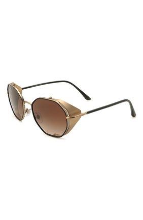 Женские солнцезащитные очки GIORGIO ARMANI черного цвета, арт. 6112JM-300213 | Фото 1