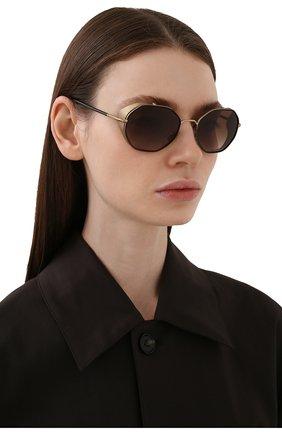 Женские солнцезащитные очки GIORGIO ARMANI черного цвета, арт. 6112JM-300213 | Фото 2
