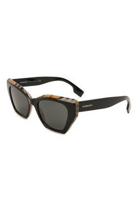 Женские солнцезащитные очки BURBERRY черного цвета, арт. 4299-382887 | Фото 1
