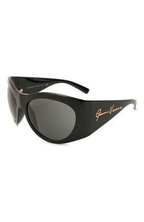 Женские солнцезащитные очки VERSACE черного цвета, арт. 4392-GB1/87 | Фото 1