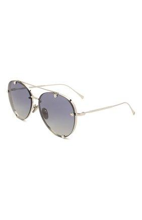 Женские солнцезащитные очки VALENTINO серебряного цвета, арт. 2045-30064L | Фото 1