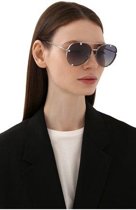 Женские солнцезащитные очки VALENTINO серебряного цвета, арт. 2045-30064L | Фото 2