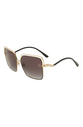 Женские солнцезащитные очки DOLCE & GABBANA черного цвета, арт. 2268-13348G | Фото 1