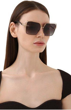 Женские солнцезащитные очки DOLCE & GABBANA черного цвета, арт. 2268-13348G | Фото 2