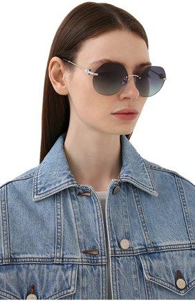 Женские солнцезащитные очки TIFFANY & CO. черного цвета, арт. 3077-60019S | Фото 2
