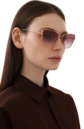 Женские солнцезащитные очки DOLCE & GABBANA бордового цвета, арт. 2275-12988H | Фото 2