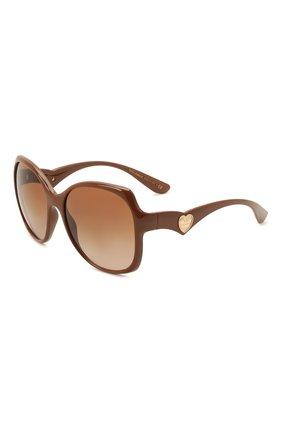 Женские солнцезащитные очки DOLCE & GABBANA коричневого цвета, арт. 6154-329213 | Фото 1