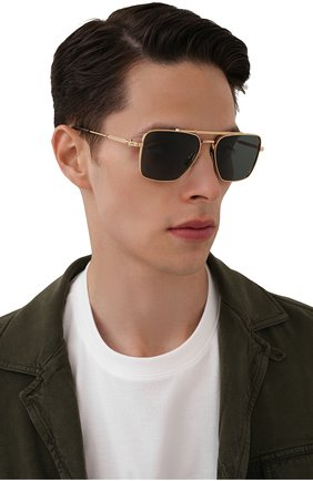 Мужские солнцезащитные очки AKONI золотого цвета, арт. AKS-201A | Фото 2