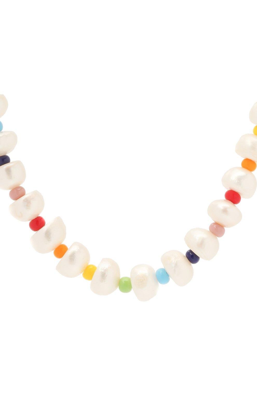 Женское колье HIAYNDERFYT разноцветного цвета, арт. 1-4WMPN | Фото 2 (Материал: Металл)