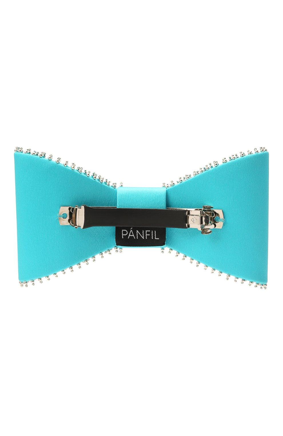 Женская бант PANFIL бирюзового цвета, арт. Бант 22-T2-TH | Фото 2 (Материал: Текстиль, Шелк)