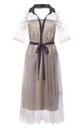 Женское платье TEGIN бежевого цвета, арт. SD2150 | Фото 1
