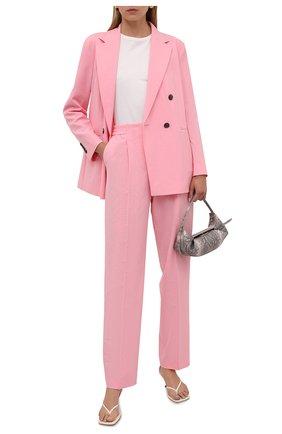 Женские брюки BOSS розового цвета, арт. 50456072 | Фото 2