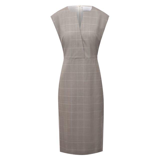 Шерстяное платье BOSS