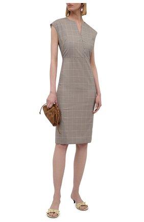 Женское шерстяное платье BOSS бежевого цвета, арт. 50447986 | Фото 2