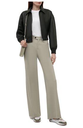 Женские комбинированные кроссовки BOSS бежевого цвета, арт. 50455183 | Фото 2