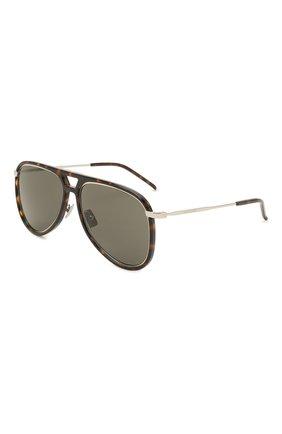 Женские солнцезащитные очки SAINT LAURENT темно-коричневого цвета, арт. CLASSIC 11 RIM | Фото 1