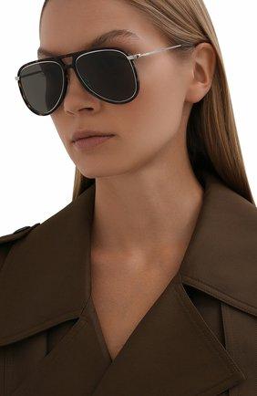 Женские солнцезащитные очки SAINT LAURENT темно-коричневого цвета, арт. CLASSIC 11 RIM | Фото 2