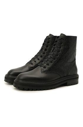 Женские кожаные ботинки cora JIMMY CHOO черного цвета, арт. C0RA FLAT/HXC | Фото 1
