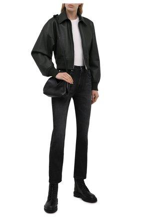Женские кожаные ботинки cora JIMMY CHOO черного цвета, арт. C0RA FLAT/HXC | Фото 2