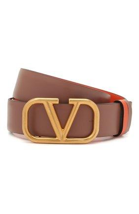 Женский кожаный ремень  VALENTINO коричневого цвета, арт. WW2T0T15/ZFR | Фото 1