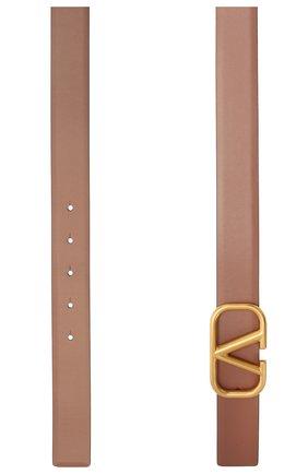 Женский кожаный ремень  VALENTINO коричневого цвета, арт. WW2T0T15/ZFR | Фото 2