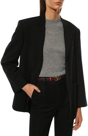 Женский кожаный ремень  VALENTINO бордового цвета, арт. WW2T0S12/ZFR | Фото 2