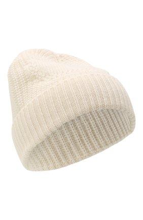 Женская кашемировая шапка VALENTINO кремвого цвета, арт. WW2HB00P/ADQ   Фото 1 (Материал: Шерсть, Кашемир)
